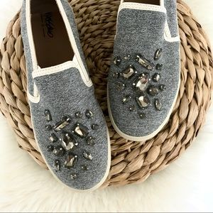 MOSSIMO | Gray Embellished Sneakers